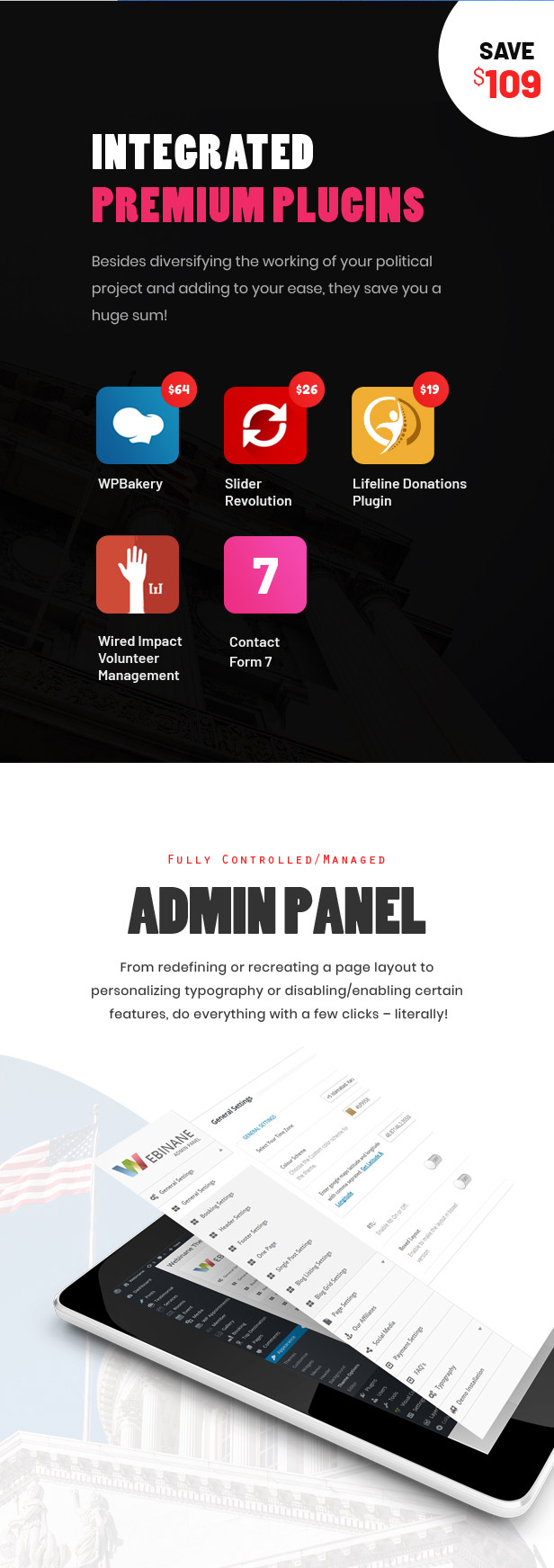Actavista - A Responsive Political WordPress Theme For Politicians and Political Organizations - 5