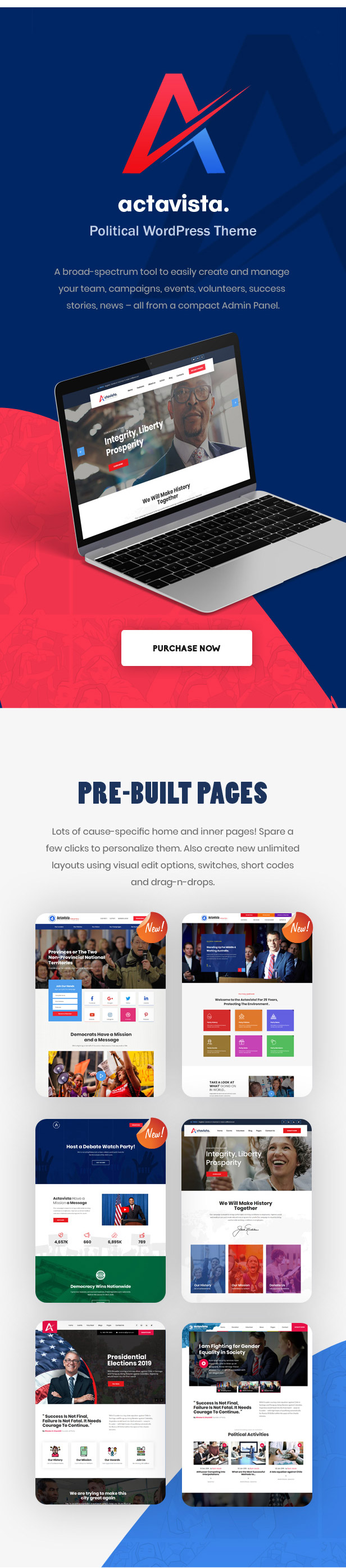 6-homepage-layouts Actavista - A Responsive Political WordPress Theme For Politicians and Organizations theme WordPress
