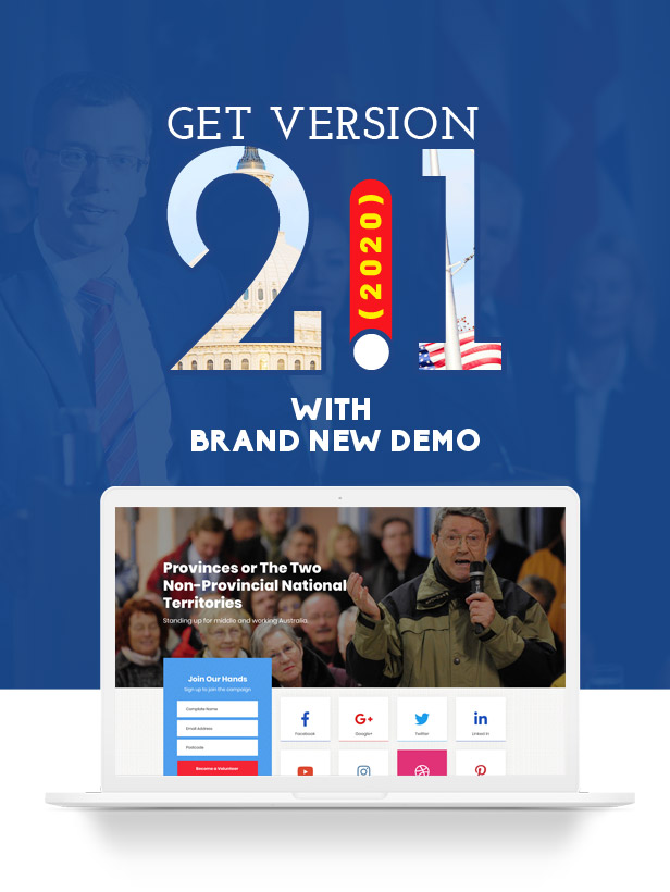 new-version-promo2.1 Actavista - A Responsive Political WordPress Theme For Politicians and Organizations theme WordPress