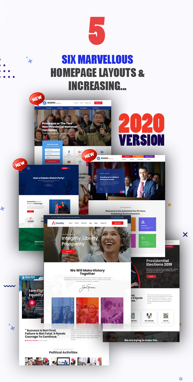 reason-5-2020 Actavista - A Responsive Political WordPress Theme For Politicians and Organizations theme WordPress