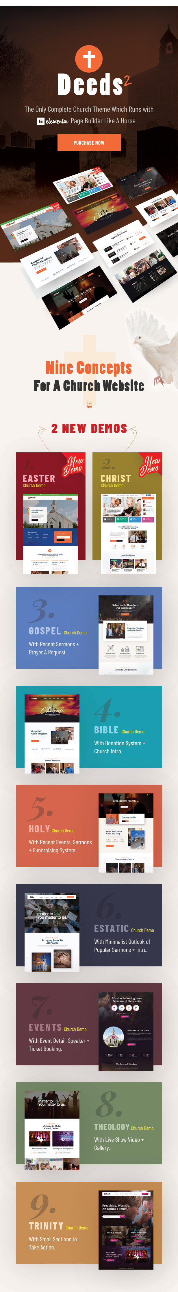 Deeds2 - Religion and Church WordPress Theme - 2