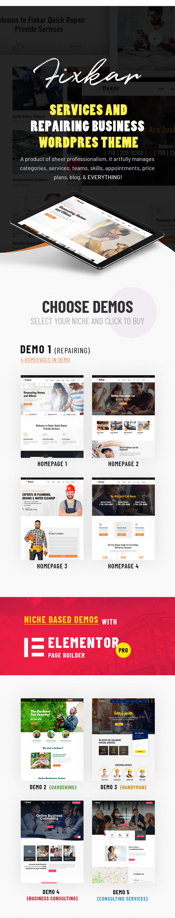 FixKar - A Services WordPress Theme - 1