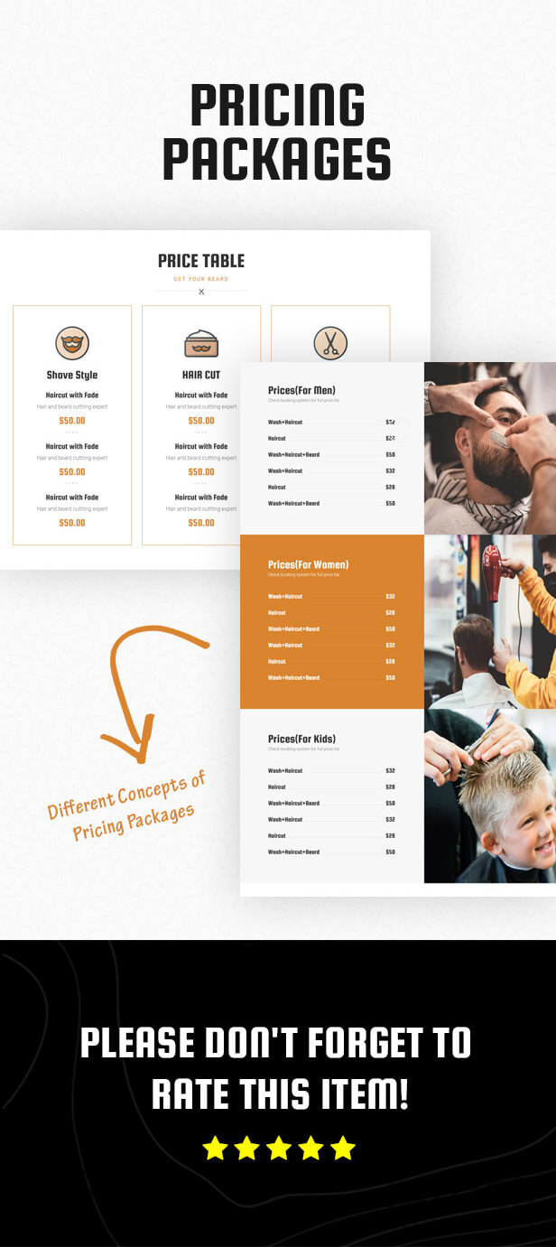 HairCutter - Barber, Beauty Shop and Salon Responsive HTML Template - 5