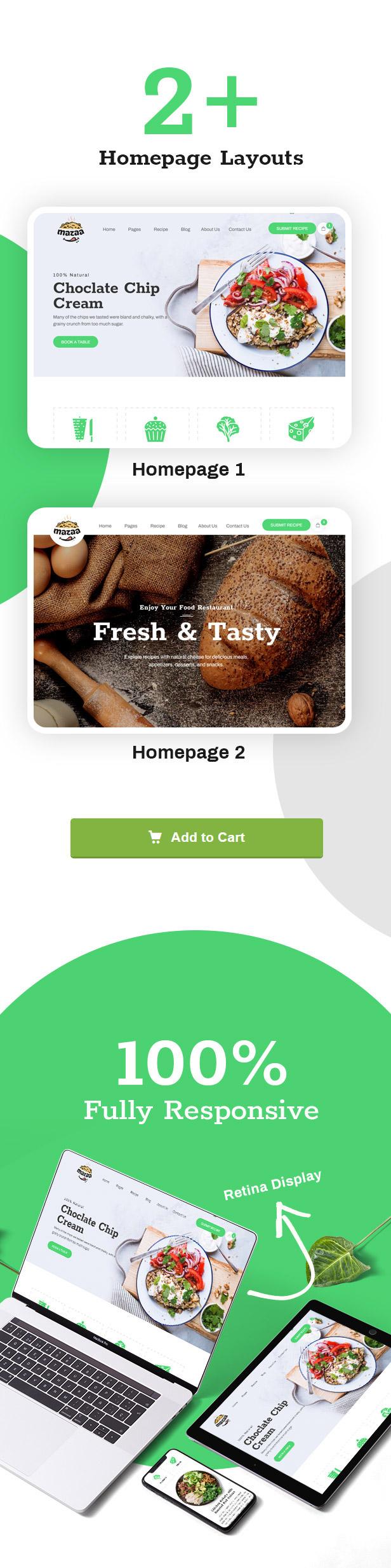 Mazaa - Responsive Restaurant or Eatery Template - 7