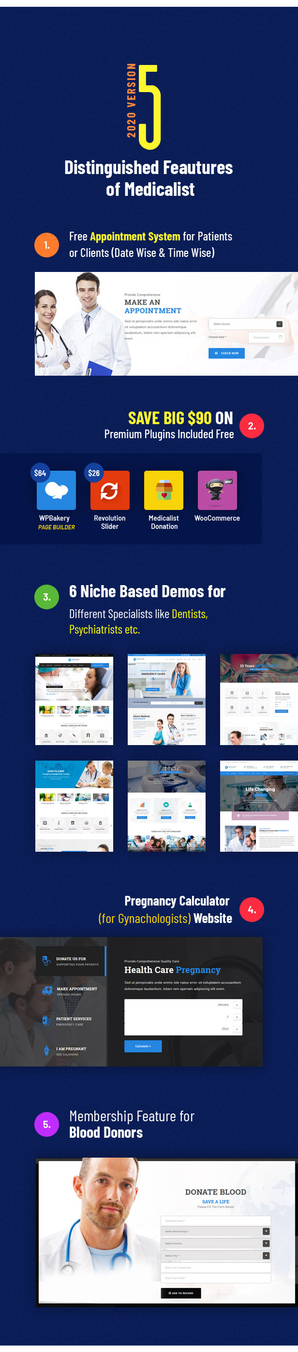 Medicalist - An All-in-One WP Medical Theme with Appointment and Blood Donation System - 3